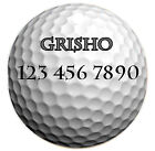 Personalized Custom Pet Dog Cat Tag ID Sports golf ball unique fun Any name Text