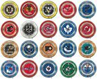 Choose Your NHL Team 15 Round Chrome Double Neon Ring Wall Clock by Holland Bar