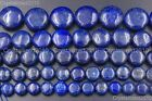 """Natural Lapis Lazuli Gemstone Round Coin Candy Beads 10mm 12mm 14mm 16mm 16"""""""
