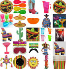 MEXICAN FIESTA PARTY TABLEWARE ACCESSORIES FANCY DRESS PINATAS ALL IN 1 LISTING