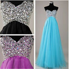 Lady Beaded Prom Gown Womens Formal Party Evening Cocktail long Dress IN 8Size