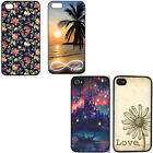 For iPhone 4G 4 4S 5 Flower beach hard plastic Snap on Slim rugged Case cover