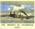 Vintage British Rail Liverpool Mersey Railway Poster A3/A2 Print
