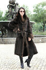 New 100% Real Genuine Mink Fur Big Raccoon Fur Collar Long Coat Wearcoat winter