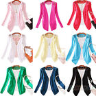 Womens Candy Color Crochet Knitwear Lace Cardigan Blouse Tops Coat Sweater B82U
