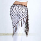 9 color Hand hook Tassels Triangle Hip Scarf Belly Dance Costume