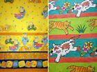 CHILDREN'S BABY NURSERY PRINT BORDER CURTAINS CUSHION BEDDING FABRIC 2 mtr wide