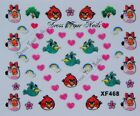Nail Stickers ANGRY BIRD Cartoon Decal Transfer  Nail Art DIY 3d  - UK