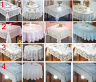 White Vinyl Embossed Lace Easy care No iron Wipe Clean PVC Tablecloth VARIOUS