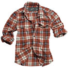 SURPLUS WOODCUTTER MENS WORK SHIRT LONG SLEEVE 100% COTTON RED CHECKED DESIGN