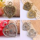 Tibetan Silver/Bronze Hollow Out Retro Flower Floral Heart Charms Pendant Beads