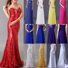5-Style Long Bridesmaid Wedding Evening Party Dresses Cocktail Ball Prom Gowns