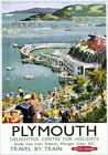 Plymouth Harbour, Devon. Vintage BR (WR) Travel poster art by Harry Riley. c1958