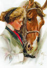 Fabric Panels; Harrison Fisher, Horse & Girl. Quilting/ 100% Cotton/ Applique