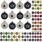 Внешний вид - NFL Football Christmas Tree Decor Holiday Mini Plastic Ball Ornament Set of 12
