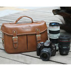 Waterproof Leather Camera Shoulder Carry Bag Padded Insert For DSLR Canon Nikon