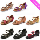Brand New Women Children Girl's Ballroom Latin Tango Dance Shoes heeled Salsa203