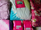 Xhilaration Quilt:Tie Dye Blue Yellow Watercolor Pink Twin Queen 100% Cotton NEW