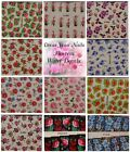 Water Decals - Flower Heads leaves colourful DIY Nail Stickers Transfer - BOP-UK