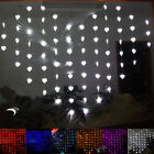 78LED Heart shape Curtain Fairy Lights Lamp Christmas Xmas String Wedding 2*1.6M