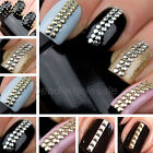 Gold&Silver Stud Nail Art 3D Design Decoration Stickers Metallic Studs Wholesale