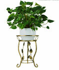 SINGLE PLANT POT STAND HOLDER DISTRESS SHABBY GOLD / SILVER /  WHITE IDEAL GIFT