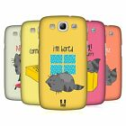 HEAD CASE DESIGNS WILBUR THE CAT CASE COVER FOR SAMSUNG GALAXY S3 III I9300