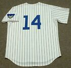 ERNIE BANKS Chicago Cubs 1969 Majestic Cooperstown Home Baseball Jersey