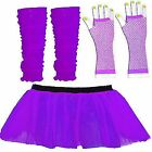 CHRISTMAS NET NEON TUTU SKIRT PURPLE PARTY FANCY DRESS COSTUME 1970s 1980s 1960s