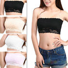 Lady Sexy Lace Casual Crop Boob Tube Bandeau Strapless Seamless Bra 4 Color B84U