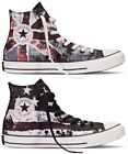 Converse Chuck Taylor All Star Hi Destroyed USA UK Flag Union Jack Trainers Shoe