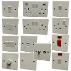 White Plastic Light Switches & Plug Sockets