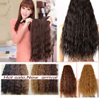long women Clip in hair extensions 1pc hairpiece real thick corn wave Top AAA66