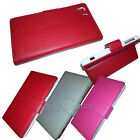 LEATHER BOOK FLIP CASE POUCH COVER FOR SONY XPERIA Z1 MOBILE PHONE + FREE SCREEN