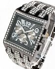 Geneva Platinum CZ Bling Iced Out Wrist Watch