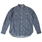LEVI'S MADE AND CRAFTED WORKSHIRT LEOPARD PRINT CHAMBRAY RRP £180