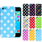 Polka Dot TPU Gel Silicone Soft Case Back Cover Skin For Apple iPhone 5c 9 Color