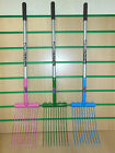 NEW Fyna-Lite 'SKIP & SCOOP' SMALL / MINI Shavings Fork Rake PINK / BLUE / GREEN