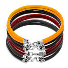 Pugster Jewelry Bead Simple Pure Black Leather Charm V33