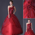 Stock Women Evening Bridesmaid Dress Formal Gown Party Prom Long Wedding Dresses
