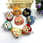 "8/16/24/48PCS Wholesale Mixed OWL Coin Bag Change Purse Wallet 3.5x3.5"" SNA052"
