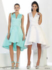 SALE! SIMPLE WEDDING SHORT DRESS UNDER $100 COCKTAIL CUTE FLOWY HOMECOMING PARTY