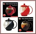 1.2 L GLASS INFUSION TEAPOT LEAF HERB GREEN TEA COFFEE MAKING POT WITH INFUSER