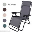 Outsunny Zero Gravity Lounge Chair Folding Recliner Patio Beach Relaxing New