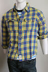 Abercrombie & Fitch Men Yellow Macnaughton  Twill Long Sleeve Plaid Shirt Medium