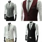 Luxury Man's Tuxedo Formal Wedding Business Prom Dress Vest Suit Wasitcoat M-XXL
