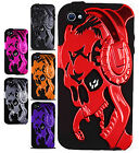 For iPhone 5 5S Gamer Skull Hybrid Rubber Silicone Case Phone Cover Accessory