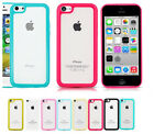 TPU Bumper Frame With Matte Clear Hard Back Skin Color Case Cover for iPhone 5c