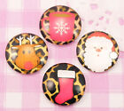 CHRISTMAS MIX Flat Back Glass Cabochon Disks Decoden Kawaii CHOOSE YOUR AMOUNT!