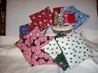 NEW FABRICS Handmade Christmas Fabric Coasters Snowmen Candy Trees Bears Birds